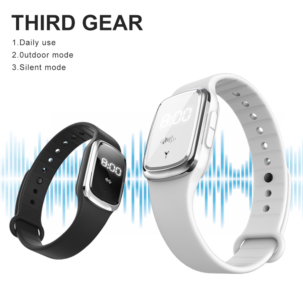 Anti Mosquito Insect Digital Watch Kids Adult Ultrasonic Bug Repellent Wristband 4