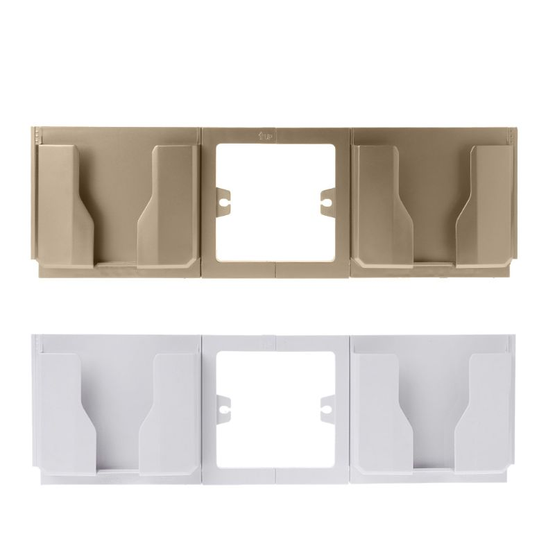 Socket Wall Phone Holder Bracket Dual Mobile Charging Charger Stand Mount Home Shelf Stand Mount Support Charging Storage Box
