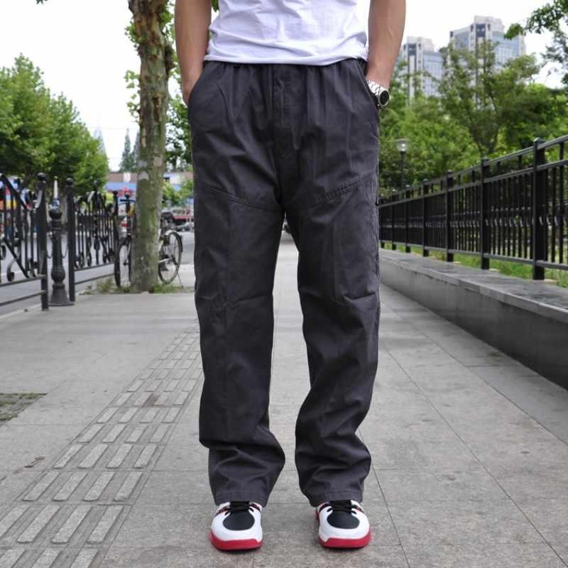 Nova chegada da marca de moda dos homens carga baggy hip-hop bolso solto macacão casual calças trabalho calças tamanho grande l xl 2xl 3xl 4xl 6xl
