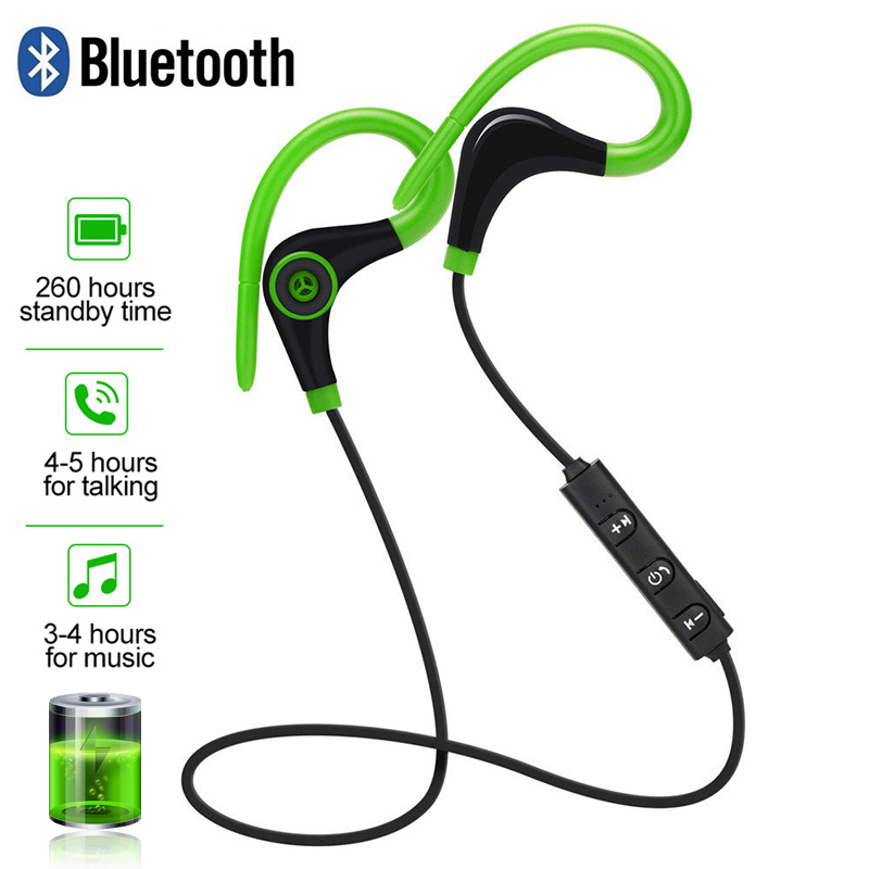 Sport <font><b>Bluetooth</b></font> Wireless <font><b>Earphone</b></font> Stereo Ear-hook Sports Noise Reduction <font><b>Earphones</b></font> With Microphone Headset For IPhone Huawei image