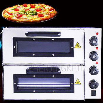 Commercial Oven Electric Oven Double Layer Cake Bread Big Oven Equipment Electric Oven Commercial Pizza Oven High Power 3000W alex clark rooster double oven glove