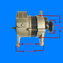 Pulley type 220v800W permanent magnet constant voltage small household alternator 1000w 200rpm low rpm vertical wind pmg alternator permanent magnet ac alternator