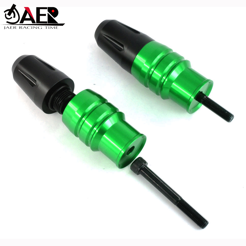 JAER 2PCS CNC Exhaust Sliders Crash Protector Frame Crash Pads for <font><b>Kawasaki</b></font> Z1000 <font><b>Z1000SX</b></font> 2013-2020 2015 2016 2017 2018 <font><b>2019</b></font> image