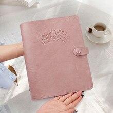 2021 agenda diário pessoal organizador capa de couro do plutônio loose-leaf notebook substituível papel viajante notepad artigos de papelaria suprimentos