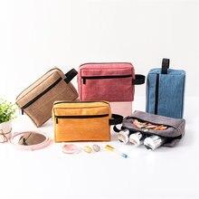 Женская сумка для макияжа одноцветная многофункциональная Водонепроницаемая