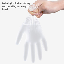 100pcs Disposable PVC Gloves High Elastic Gloves for House Cleaning Tattoo Cosmetic Effectively Isolate Oil Dust Etc (L ) Gloves
