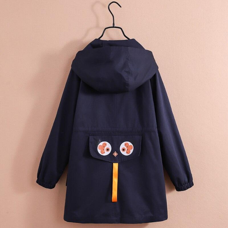 Filles coupe-vent manteau 2019 automne enfants manteau Outwear mode enfants vêtements à capuche Trench manteau simple boutonnage