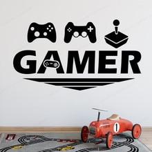 Gamer Vinyl Wall Sticker play Room wall decal gaming decoration art mural  Boys Bedroom wall Decor  JH352 недорого