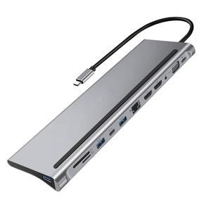 Docking-Station Gigabit Type-C Dual-Hdmi High-Quality Lan HUB PD RJ45 4K 12-In-1