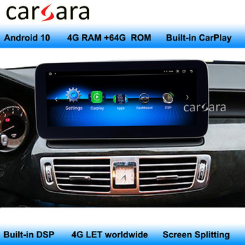 For Mercedes Radio Android W218 Screen Car HD Dashboard Monitor After-market Navigation Display Bulit-in 4G LET Support CarPlay image