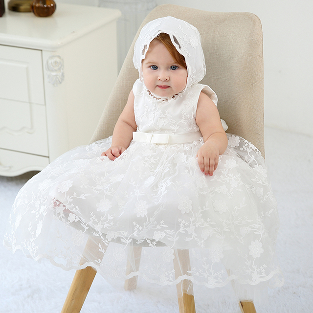 HAPPYPLUS Maxi Vintage Christening Dress for Baby Girl Lace Baby Half Birthday Girl 2 Years Baptismal Set Infant Dress Gowns