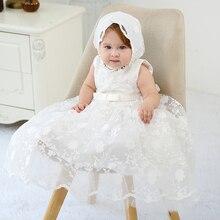 HAPPYPLUS מקסי בציר הטבלה שמלה עבור תינוקת תחרה תינוק חצי יום הולדת ילדה 2 שנים Baptismal סט תינוק שמלת שמלות