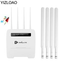 YIZLOAO 4g Wireless Router Wifi Access Point WAN Lan Port Unlocked 4pcs Antenna 32 Wifi 300mbps CPE 4G LTE With Sim Slot Hotspot cheap CN(Origin) 100Mbps 1 x10 100 1000Mbps 1 x USB 2 0 2 4G None R102 Wi-Fi 802 11g 802 11n 300 Mbps Firewall Soho