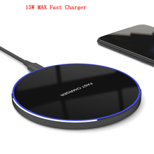 15W MAX QI Quick Charging Wireless Fast Charger Usb c QC 3.0 10W Mobile Phone Station For iPhone 11 XS XR X 8 Samsung S10 S9