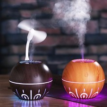 Wood grain humidifier Multifunctional air conditioner USB purification ultrasonic atomizer desktop Aroma diffuser