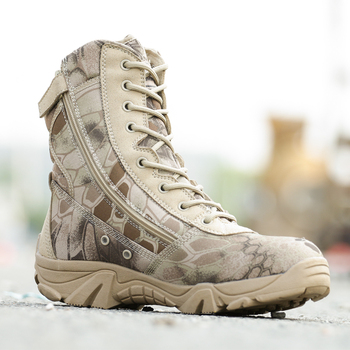 Man Outdoor Hiking Boots Waterproof Canvas Lace Up Military Tactical Boot Men Trekking Camping Climbing Shoes