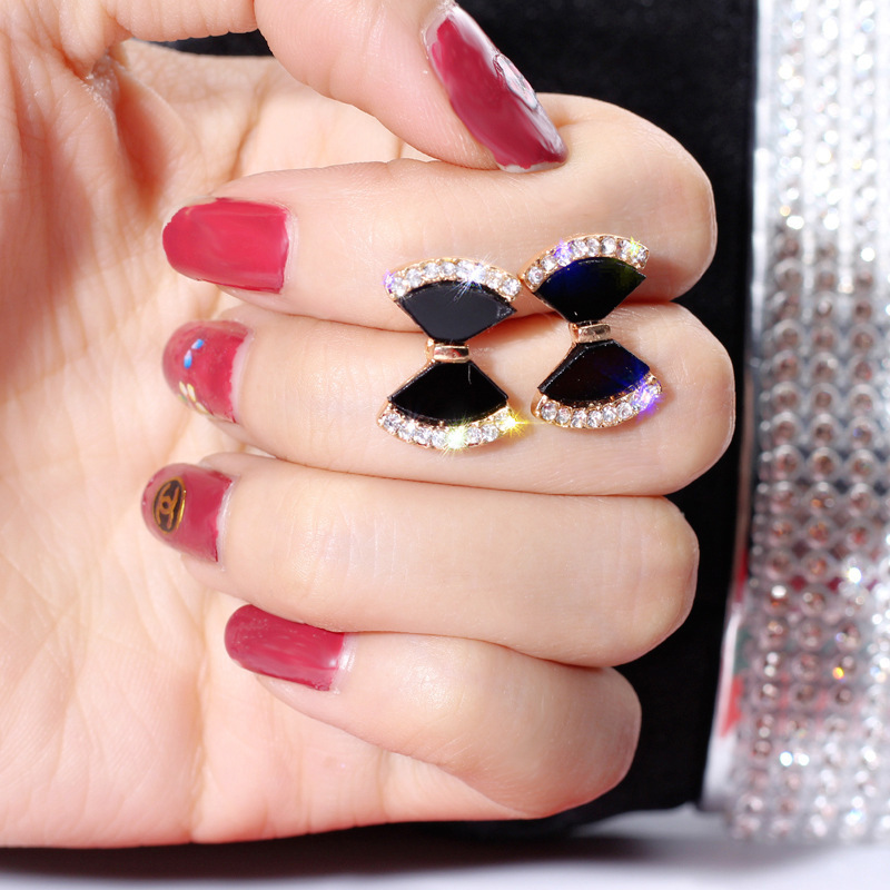 DREJEW Black Star Hear Butterfly Owl Round Squares Statement Earrings 2019 925 Drop Earrings Sets for Women Fashion Jewelry H273 in Drop Earrings from Jewelry Accessories