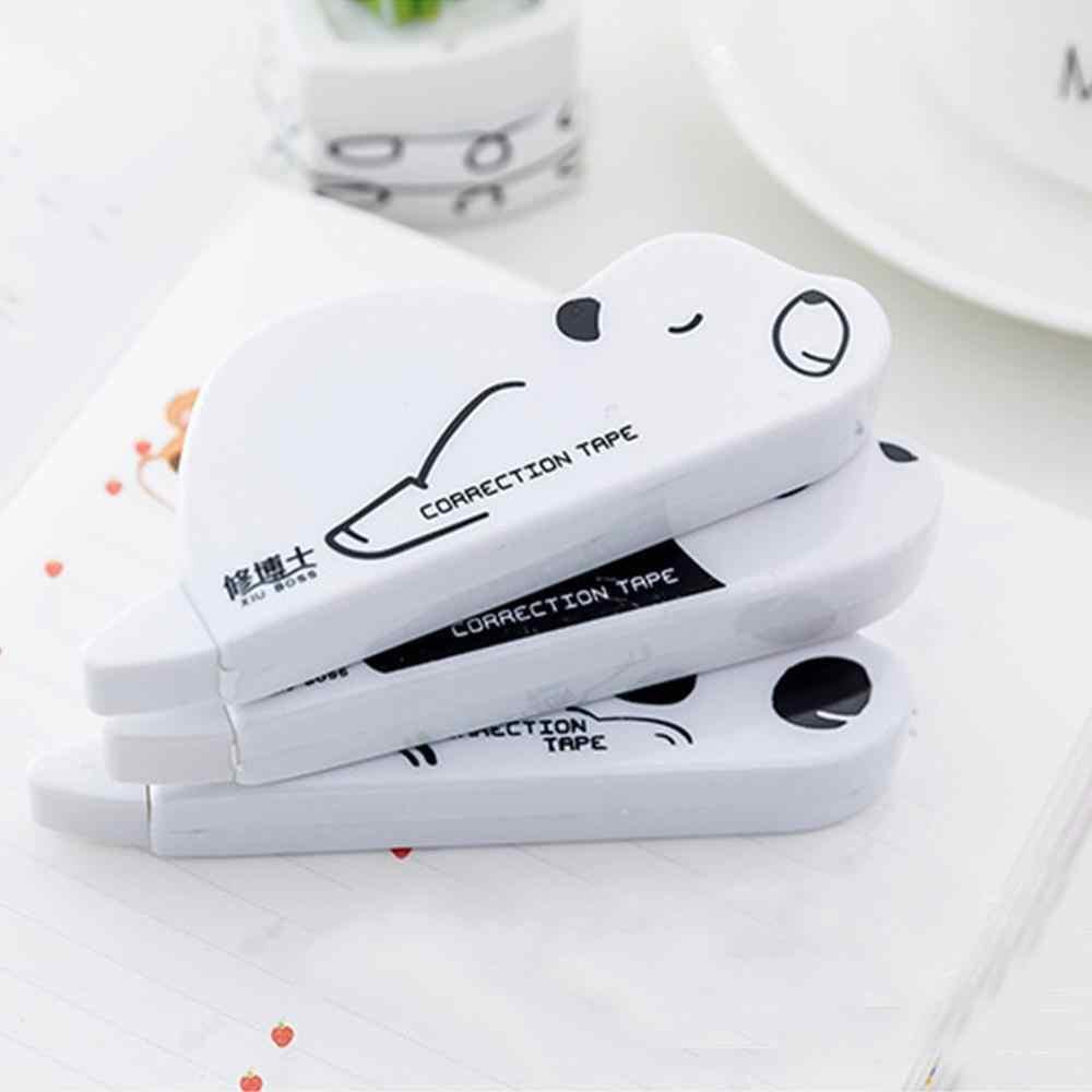 Animais bonitos Decorativos Fita Corretiva Fita Corretiva Forma Corrector Kawaii Panda Dos Desenhos Animados Para A Escola Em Casa Fornecimento de artigos de Papelaria