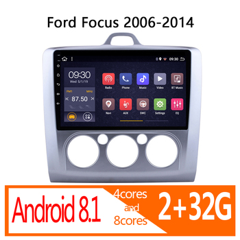 autoradio android auto 2 32G for Ford Focus 2006 2007 2008 2009 2010 2011 2012 2013 2014 car radio coche audio 1 din navigator image