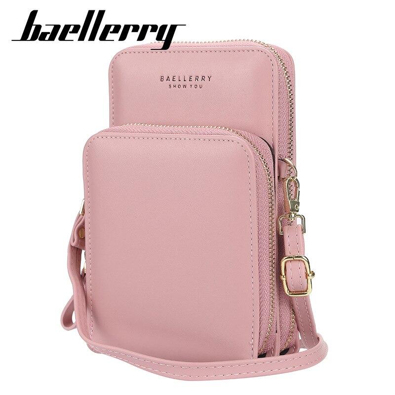 Bellerry Brand Women Casual Wallet Cell Phone Wallets Big Card Holders Handbag Purse Female Clutch Messenger Shoulder Straps Bag
