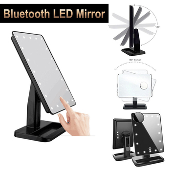 Makeup Mirror with Led Light Bluetooth M120 Vanity Mirror With Lights Touch Screen LED Make Up Mirror  Magnifying Adjustable 10X frameless vanity mirror with light hollywood makeup lighted mirror 3color light cosmetic mirror adjustable touch screen 58 46cm