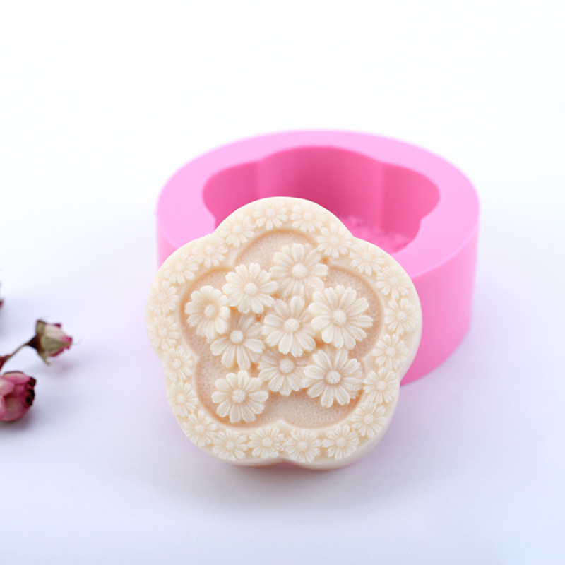 Daisy Flower Silicone Soap Mold Chocolate Cake Decorating Tools DIY Handmade Candle Silicone Mould Soap Molds Crafts