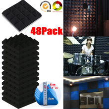Sound-Absorption Acoustic-Foam Fireproof Pyramid Tiles Silencing-Studio 25X8CM 48/Pack