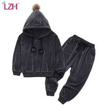 Infant Clothing Suit Pants Outfits Hoodie Baby-Girls Winter for 2pcs Newborn Newborn
