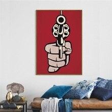 Pop Art Artwork Roy Lichtenstein Painting Silk Canvas Poster Wall Home Decor