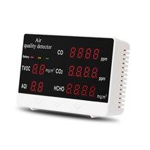 Multifunctional Air Quality Analyzer Monitor Digital Gas Analyze Gas Detector Display High Accuracy CO CO2 HCHO TVOC Detector