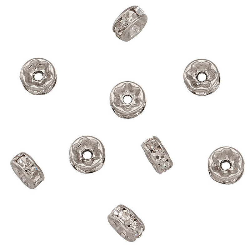 200pcs 316 Stainless Steel Disc Heishi Spacer Loose Beads Findings 6mm