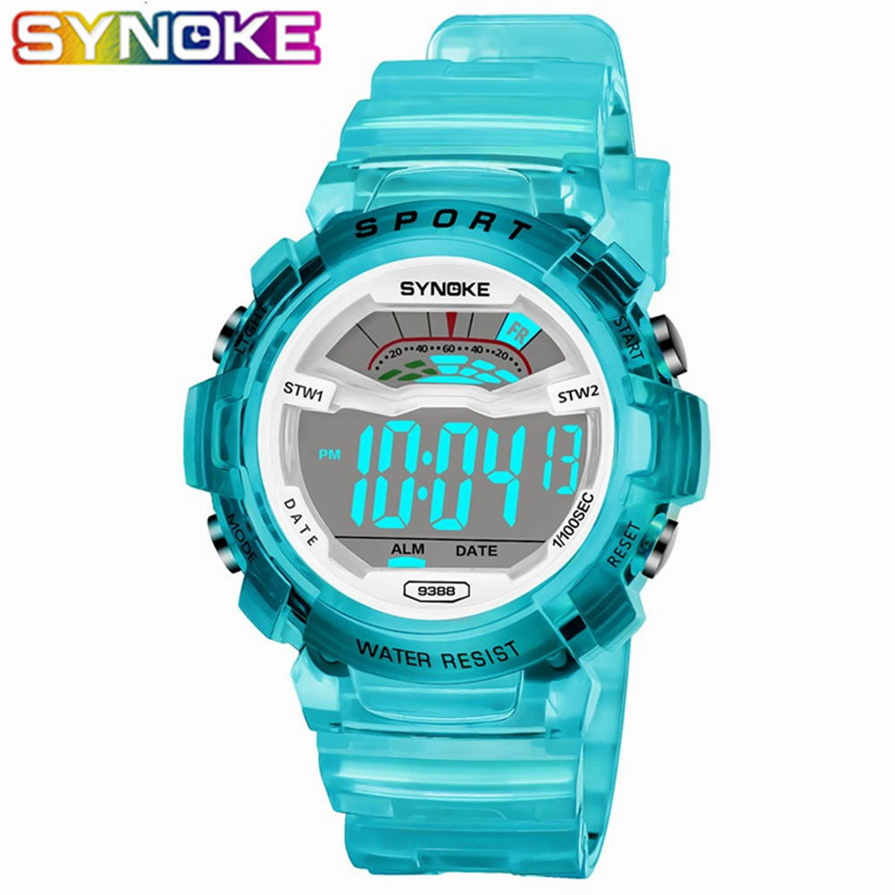 SYNOKE Kids Watches Multifunctional Chronograph Sport Children LED Digital Watch Life Waterproof Wristwatches For Boys Girls