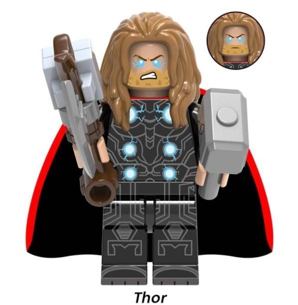 NEW Super Heroes LEGOED Marvel Avengers Infinity War Iron Man Thanos Thor Hulk Building Blocks toy 5