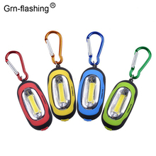 Mini 3 Modes Portable COB LED Keychain Flashlight Waterproof