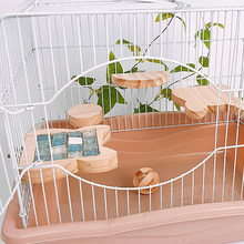 New Rabbit Totoro Hamster Summer Toy Double-Sided Wooden Pet Springboard Rabbit Small Pet With Cooling Mat Pad Cage Toys(China)