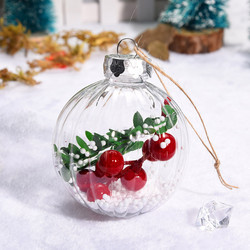 Christmas 2019 Home Decorations Cherry Decoration Ball DIY Christmas Tree Hangings Deco Noel Bois Kerst Natale Dropshipping # 1