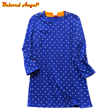 Brand New Autumn Toddler Girl Long Sleeve Dresses Christmas Dress Princess Costume Cotton Baby Clothes Kids Party Dress 3-8Y