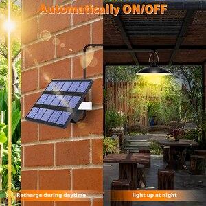 Image 3 - ضوء الشمس مع لوحة طاقة شمسية معلقة لمصباح إضاءة خارجية للطاقة الشمسية في الأماكن المغلقة مع 9.8FT الحبل ضوء الشمس قلادة سقف الشرفة