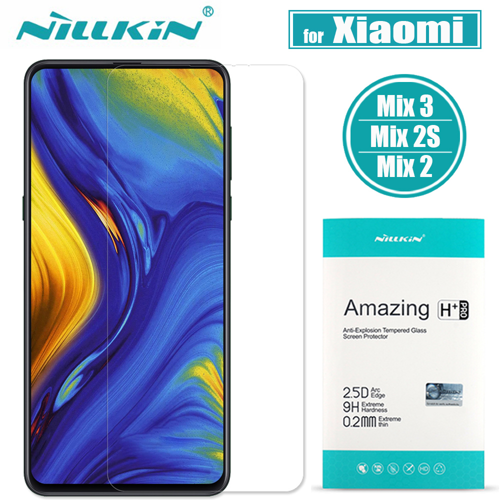 Nillkin Xiaomi Mi Mix 3/2S/2 Glass Screen Protector 9H Hard Clear Safety Protective Glass on XiaoMi Mix 3/2S/2 Tempered Glass|Phone Screen Protectors| |  - title=