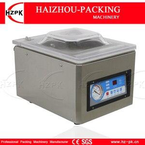 Image 4 - HZPK Machine à emballer sous vide automatique pour aliments de cuisine, en acier inoxydable, fermeture de sacs en plastique, chambre Stee, petite Machine à emballer sous vide DZ260