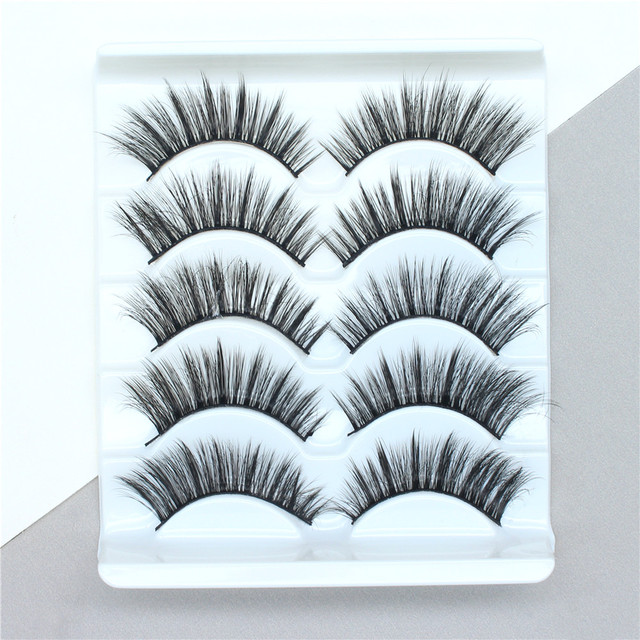 5Pairs 3D Mink Hair False Eyelashes Extension Natural Thick Long Fake Eye Lashes Wispy Women Makeup Beauty Tools 1