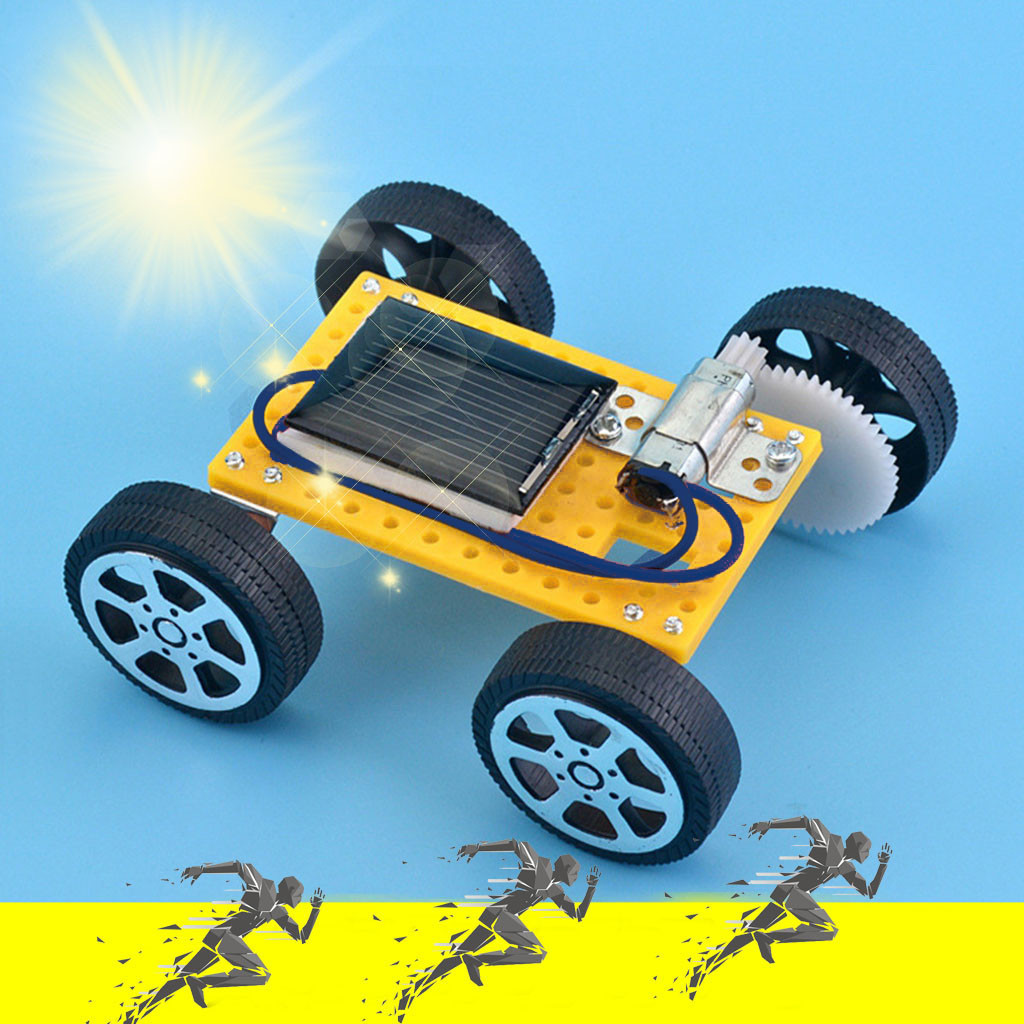 Solar Car DIY Toy Set Solar Powered Car Kit Educational Science For Kid Children Fun Playing Game Toy Baby Boy Girl Toys
