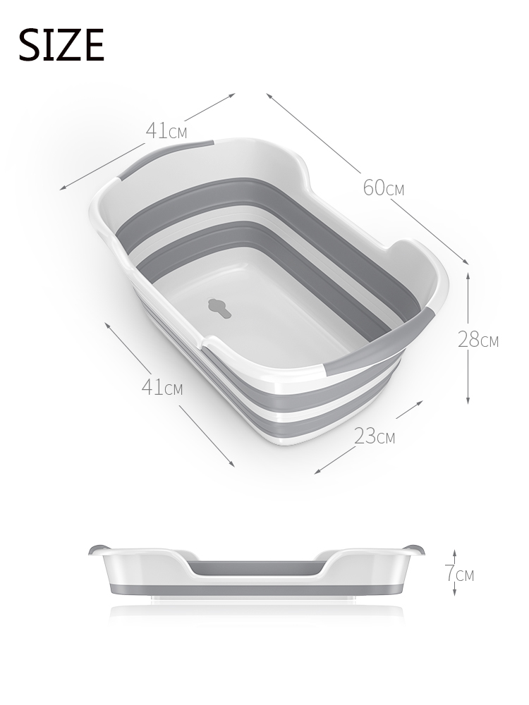 Good Quality Folding Baby Bath Tub Made Of PP And TRP Material For Safe Bath Of Children 12
