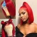 SHD парик человеческих волос спереди с челкой Бразильские Реми волосы тела волна чистый цвет 530 # предварительно отобранные с волосами ребенк...