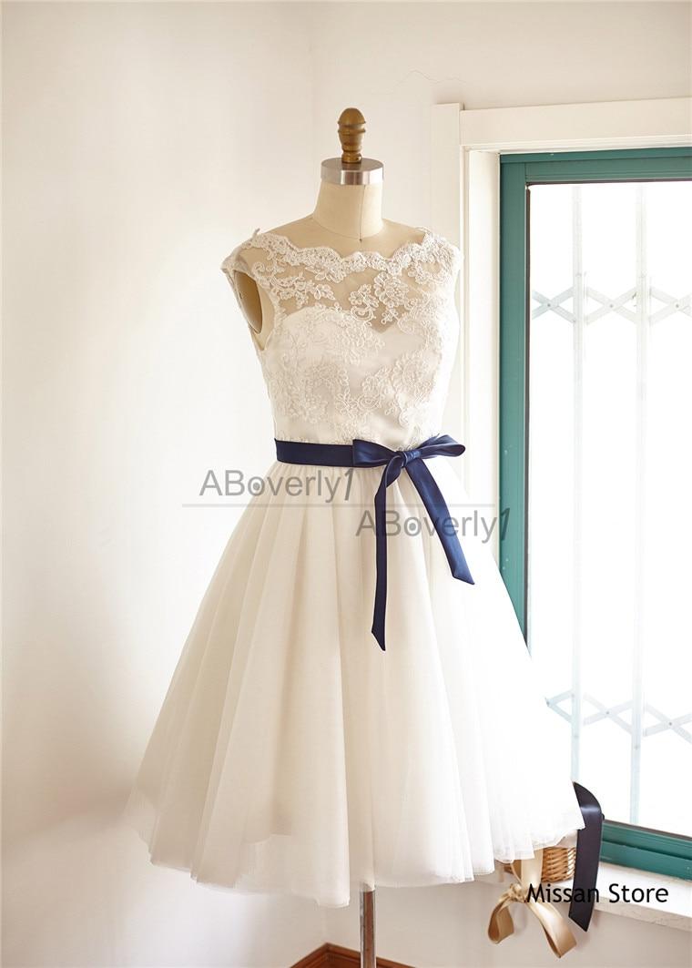 Ivory Lace Tulle  Simple Wedding Dress Ivory Lace  Bridal  Dress