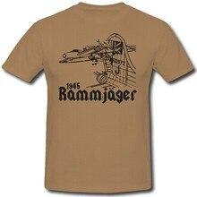 Camiseta 2020 moda masculina venda quente t camisa moda rammjager luftwaffe wk 2 kamikaze manga curta