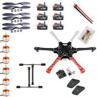 F05114 Y F550 Drone FlameWheel Kit With KK 2.3 HY ESC Motor Carbon Fiber Propellers +Tall Landing Skid PTZ