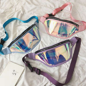 Bum-Bag Waist-Pack Clear Holographic Belt Laser Punk Transparent Waterproof Fashion Women