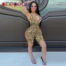 PinePear Sexy Leopard Short Jumpsuits Women Hot Night Club B