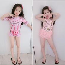 Fruit-Outfits Beachwear Baby-Girls Korea-Style Kids Summer Sleeveless Cute Cream One-Peice
